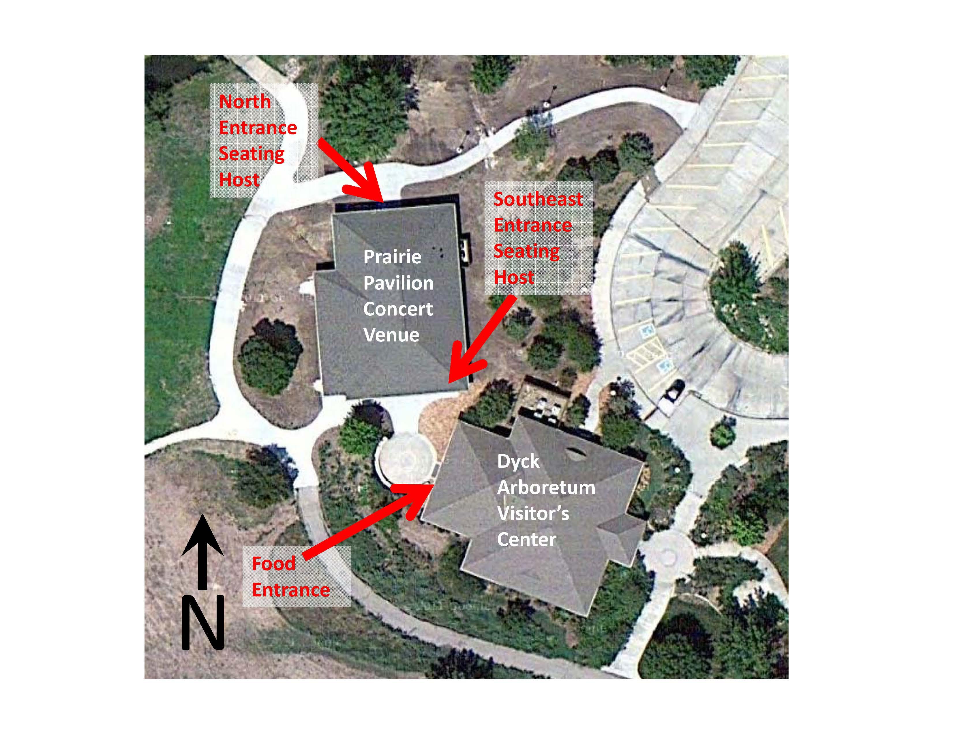 Dyck Arboretum Venue Map