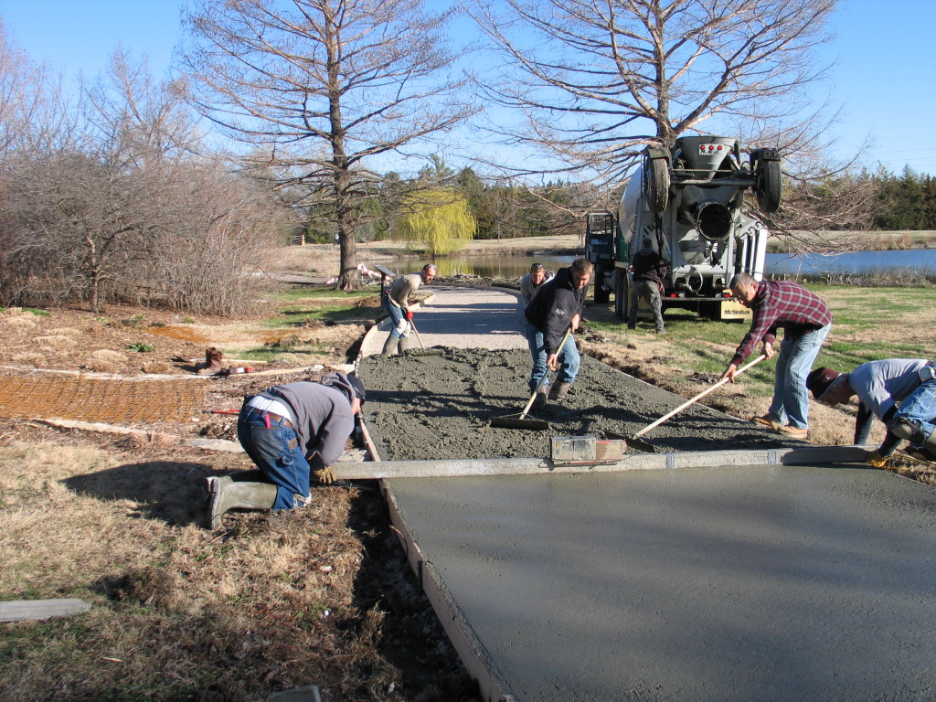 Repaving the path at Dyck Arboretum 2015